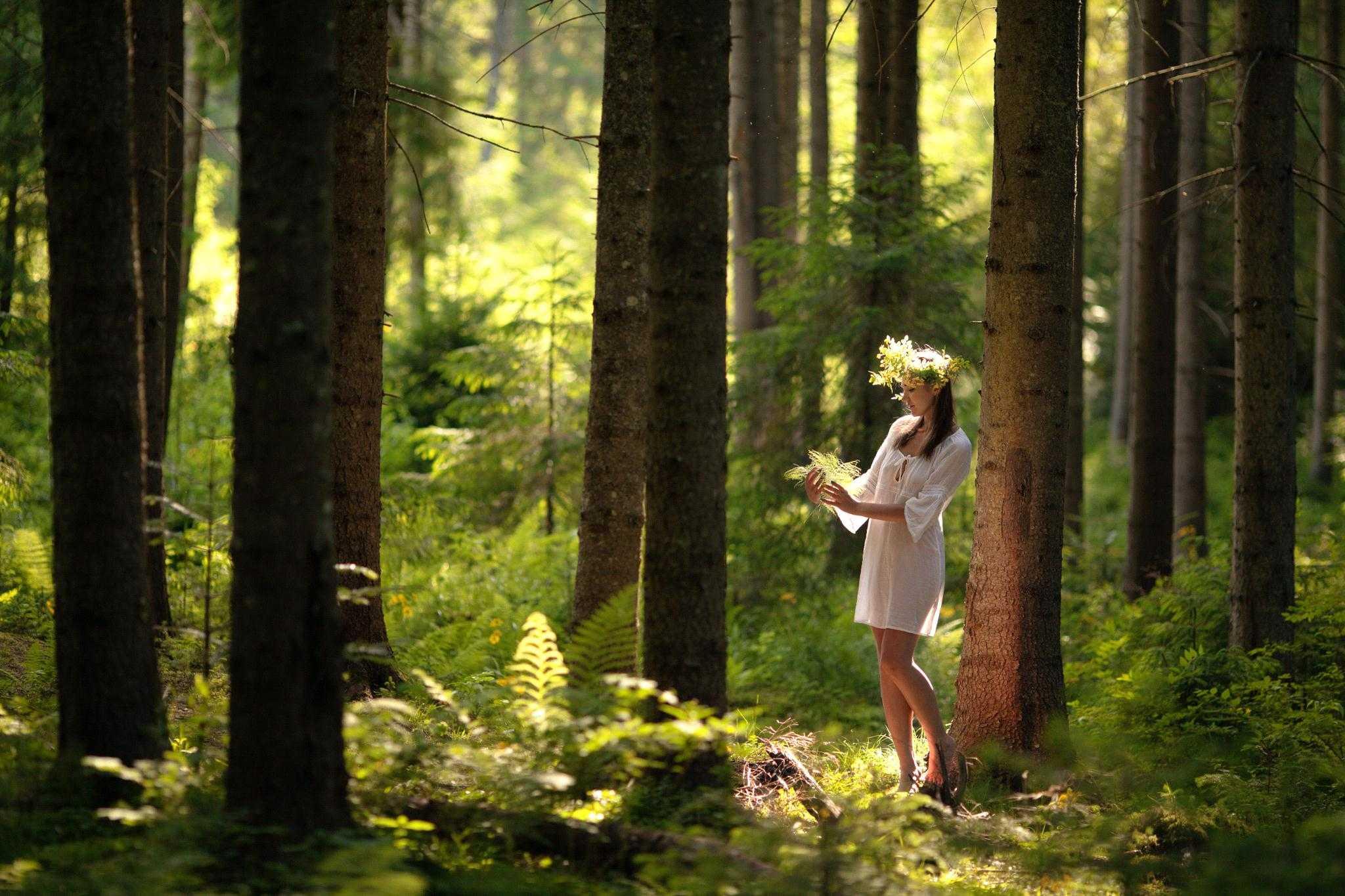 Позы для фотосессии в лесу4