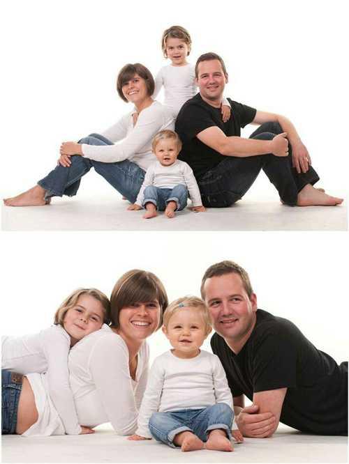 Позы для семейной фотосессии14