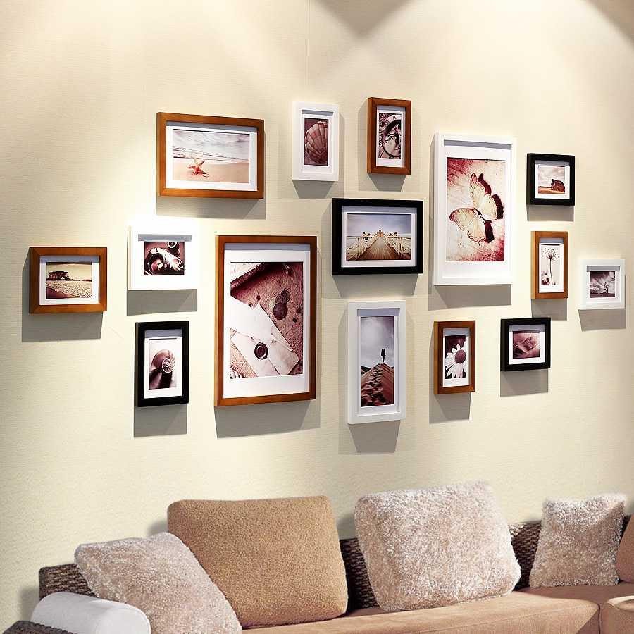 Как повесить фотографии на стену красиво10