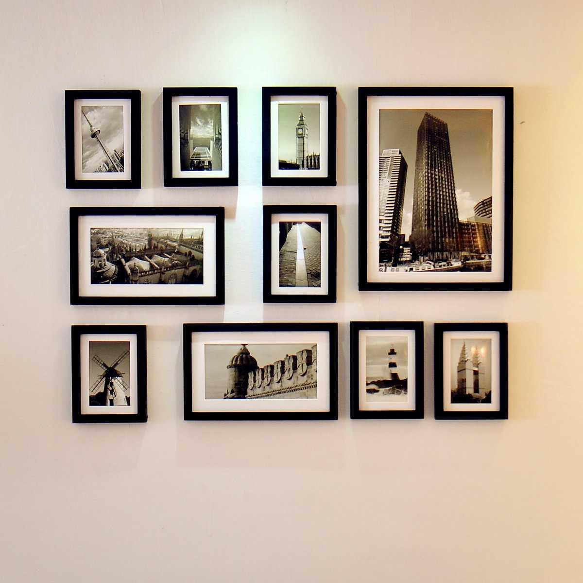 Как повесить фотографии на стену красиво11