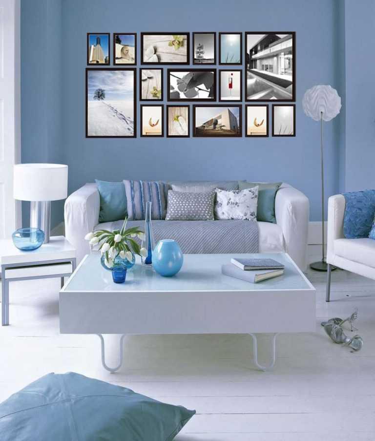 Как повесить фотографии на стену красиво12