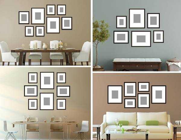 Как повесить фотографии на стену красиво13