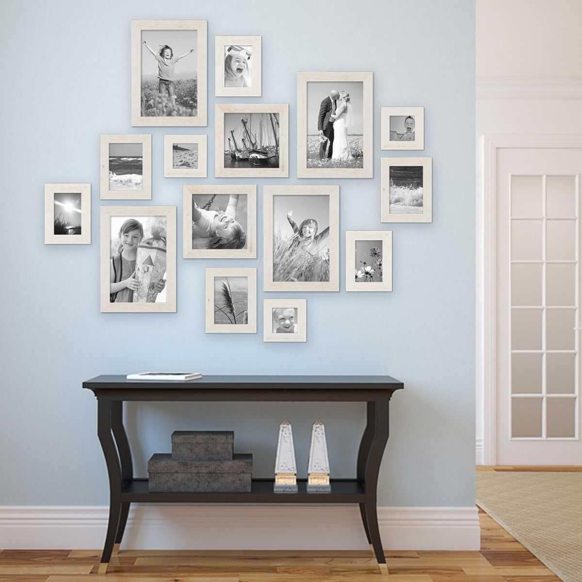 Как повесить фотографии на стену красиво14