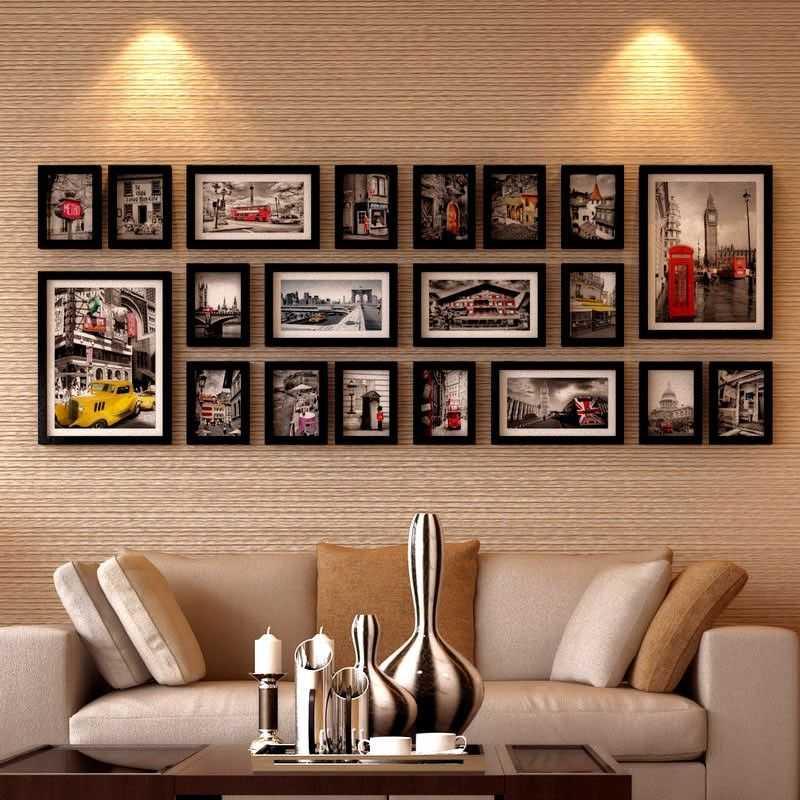 Как повесить фотографии на стену красиво15