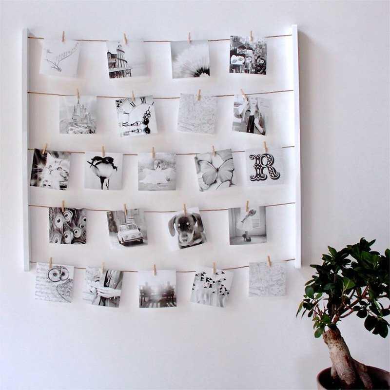 Как повесить фотографии на стену красиво3