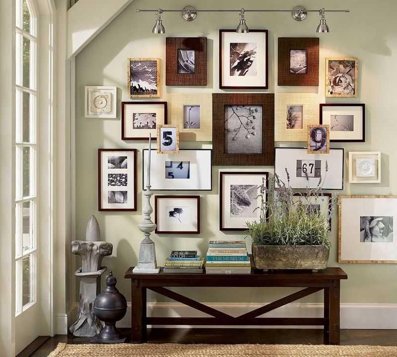 Как повесить фотографии на стену красиво6