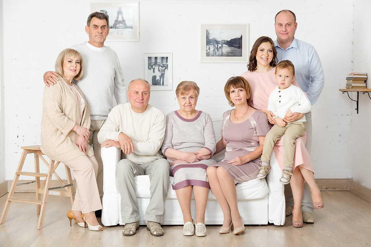 Семейные фотосессии в студии фото идеи1