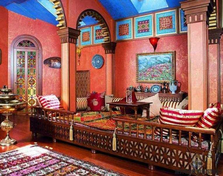 Индийский стиль в интерьере фото5