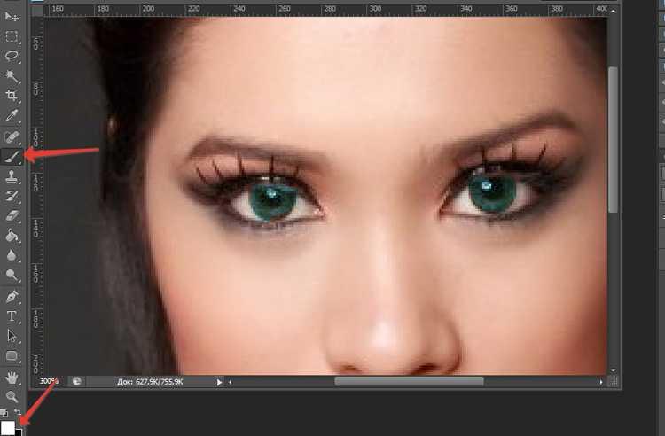 Как в фотошопе изменить цвет глаз9