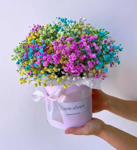 Цветочная композиция из живых цветов9