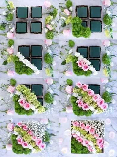 Цветочная композиция из живых цветов12