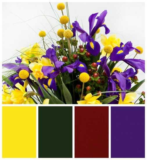 Цветочная композиция из живых цветов6