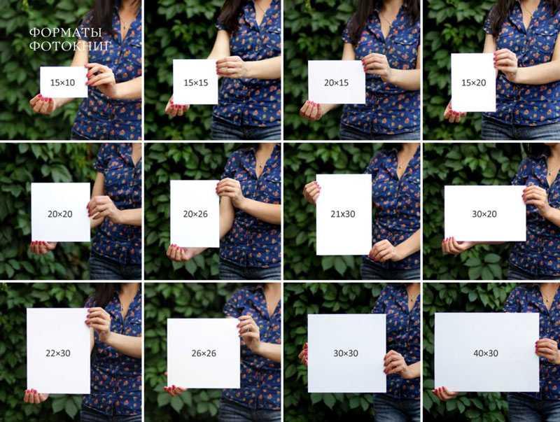 Стандартные размеры фотографий для печати2