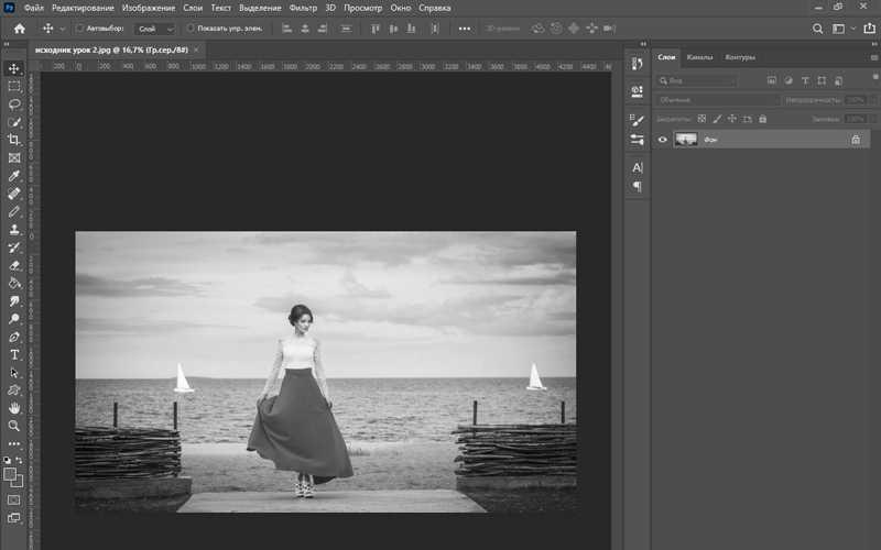 Как сделать черно белое фото в фотошопе цветным-2